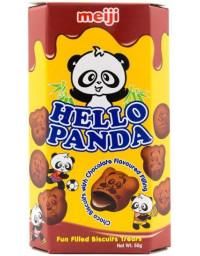 10 Packs of 50g MEIJI Hello Panda Double Chocolate Cookies