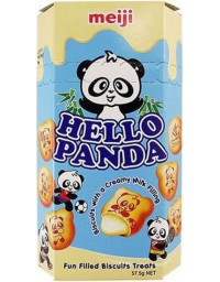 10 Packs of 50g MEIJI Hello Panda Milk Cookies