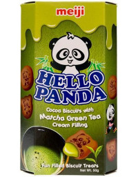 10 Packs of 50g MEIJI Hello Panda Green Tea Cookies