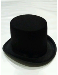 Fancy Black Top Hat mat hatter