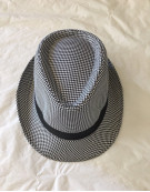 Unisex Mens Womens Check Tweed Fedora Hats