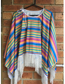 MEXICAN PONCHO Costume Wild West Cowboy