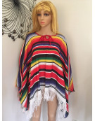 MEXICAN PONCHO Spanish Costume Wild West