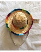 Mini Mexican Sombrero Hat on Headband