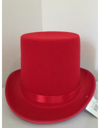 Red Top Hat Costume Magician