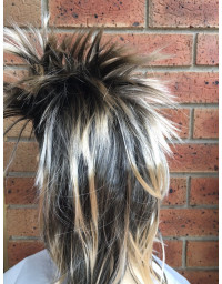 Long SPIKY Wig Rock Punk 80s
