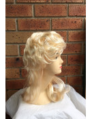 Fashion 70s 80s Mullet Blonde Wig