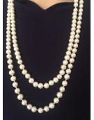 Elegant Faux Pearl Long Necklace