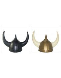 Black/Gold Blond Viking Helmet