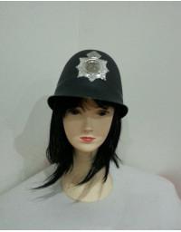Black Bobby Hat Police Officer Helmet