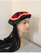 Bob Marley Jamaican Rasta Beanie Hat Dreadlocks
