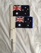 16 pcs Small Waver Hand Held Aussie Flags/Australia Flag