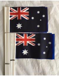 16 pcs Small Waver Hand Held Aussie Flags/Australia Flag