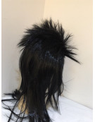 Black SPIKY Wig Rock Punk