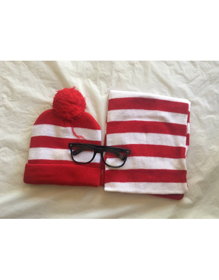 Red And White Stripe Costume Set