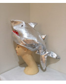 Silver Shark Hat