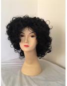 Curly Black Rock Star Wig